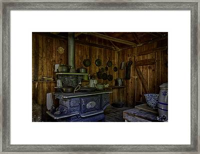 Cast Iron Wood Stove Framed Print by Lynn Palmer