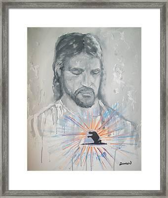 Cast Your Care On Him Framed Print by Raymond Doward