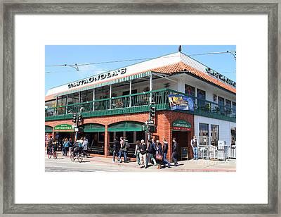 Castagnolas Restaurant . Fishermans Wharf . San Francisco California . 7d14206 Framed Print