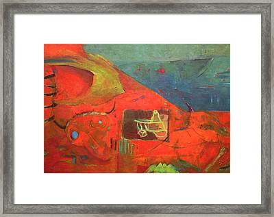 Castaway Framed Print by Beata Kolba