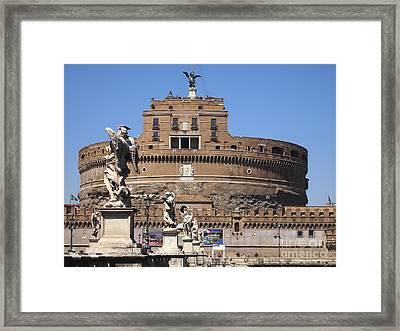 Castel Saint Angelo On The River Tiber. Rome Framed Print