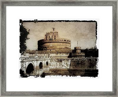 Castel Sant' Angelo Rome Framed Print by Julie Palencia