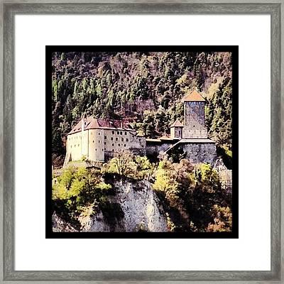 Castel Tirolo... Domina Merano E Tutta Framed Print