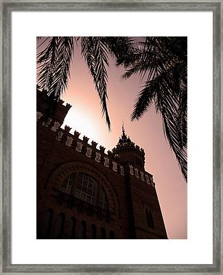 Framed Print featuring the photograph Castell Dels Tres Dragons - Barcelona by Juergen Weiss