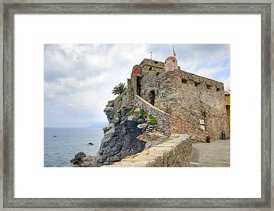 Castello Della Dragonara In Camogli Framed Print by Joana Kruse