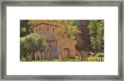 Castillo De Amoroso Farmhouse Napa Valley Framed Print by George Sylvia
