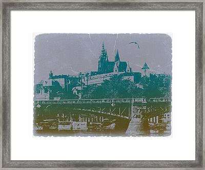 Castillo De Praga Framed Print by Naxart Studio