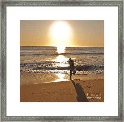 Framed Print featuring the photograph Casting To The Sun by Jim Moore