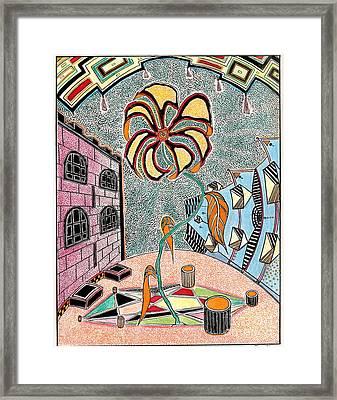 Castl Yard Framed Print by Yury Bashkin
