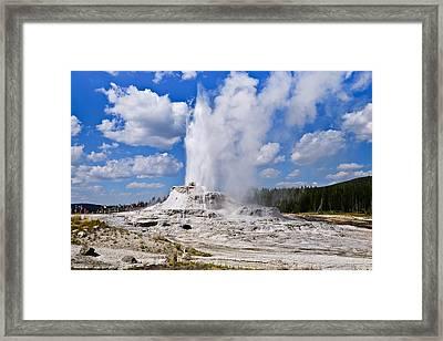 Castle Geyser Framed Print by Greg Norrell