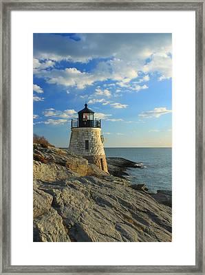 Castle Hill Lighthouse Newport Rhode Island Framed Print by John Burk