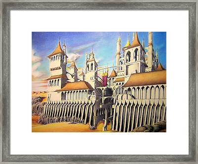 Castle In The Sand Framed Print by Eric Pouillet