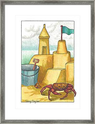 Castle In The Sand Framed Print by Terry Taylor