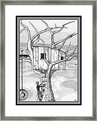Castle In The Tree - A Childhood Dream Framed Print by Glenn McCarthy Art and Photography