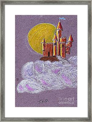 Castle Moon Framed Print