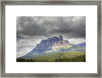Castle Mountain 2011 Framed Print