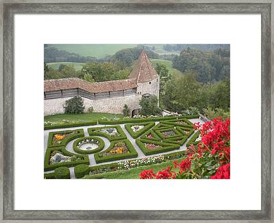 Castle Of Gruyeres Switzerland Framed Print by Marilyn Dunlap