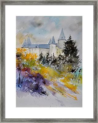 Castle Of Veves Belgium Framed Print by Pol Ledent