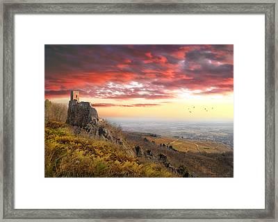 Castle On Hill In Ribeauvillé Framed Print by JimPix