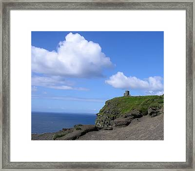 Castle On The Cliffs Of Moher Framed Print