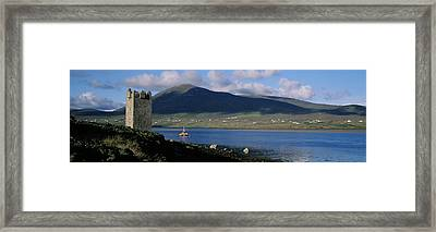 Castle On The Coast, Kildownet Castle Framed Print by The Irish Image Collection