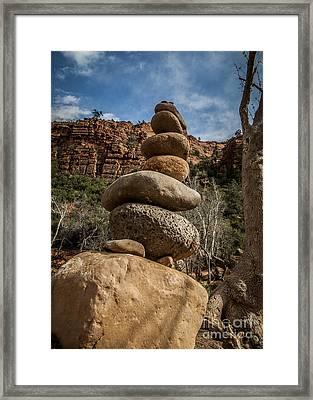 Castle Rock Cairn Framed Print