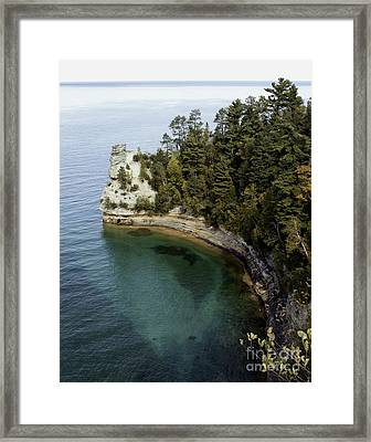 Castle Rock Shoreline Framed Print
