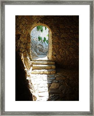 Framed Print featuring the photograph Castle Ruins by Therese Alcorn