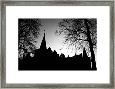 Castle Silhouette Framed Print by Semmick Photo