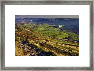 Castleton In The Hope Valley Framed Print by Darren Burroughs