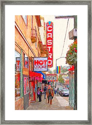 Castro Street San Francisco Framed Print by Wingsdomain Art and Photography
