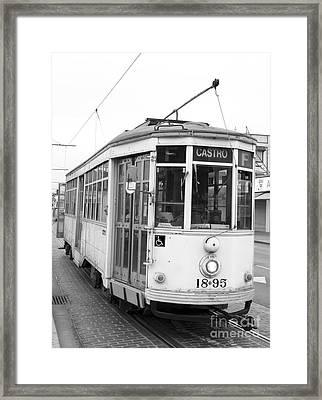 Castro Trolley Framed Print by Eric Foltz