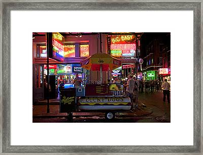 Casual Dining Framed Print