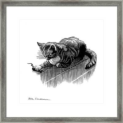 Cat And Mouse, Artwork Framed Print by Bill Sanderson