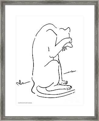 Cat-art-siamese-3 Framed Print by Gordon Punt