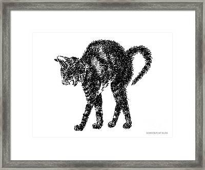 Cat-artwork-prints-2 Framed Print by Gordon Punt