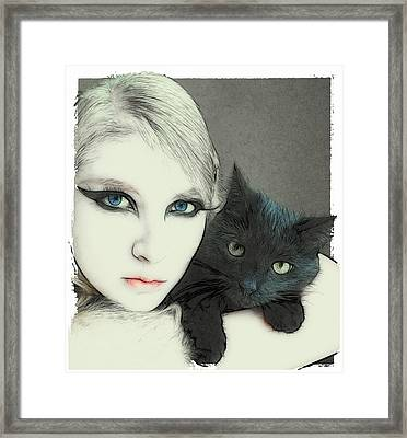 Cat Cuddles 3 Framed Print