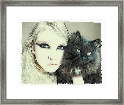 Cat Cuddles Framed Print