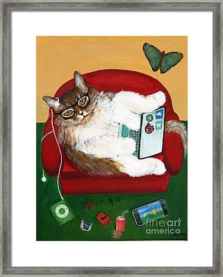 Cat Diptych 2 Framed Print