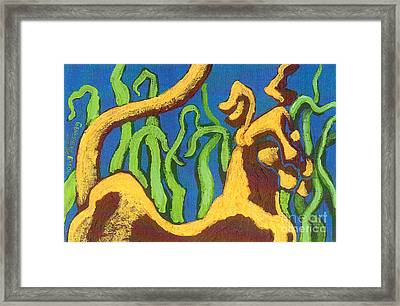 Cat Dog Framed Print by Genevieve Esson