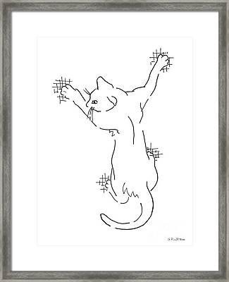 Cat Drawings 3 Framed Print by Gordon Punt