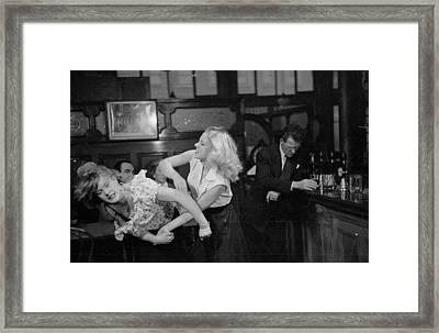 Cat Fight Framed Print by Bert Hardy