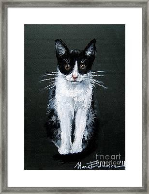 Cat I Framed Print by Mona Edulesco