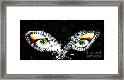 Cat Mask Framed Print by C Lythgo