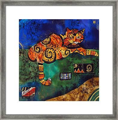 Cat Framed Print by Sandra Kern