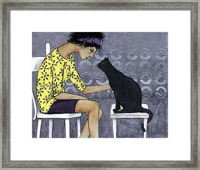 Cat Talk Framed Print