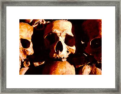 Catacombs In Paris Framed Print by Julie VanDore