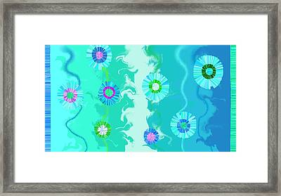 Cataflores Framed Print by Rosana Ortiz