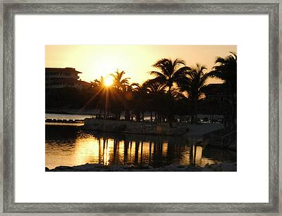 Catalonia Resort Puerto Adventurist Mexico Framed Print
