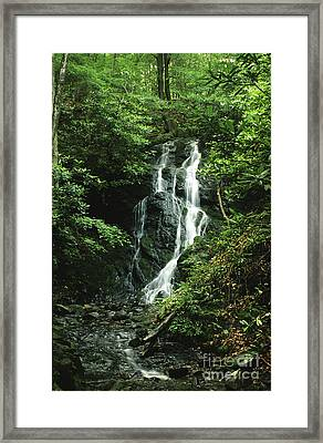 Cataract Falls In Smokies Framed Print